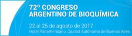 72º Congreso Argentino de Bioquímica  ABA